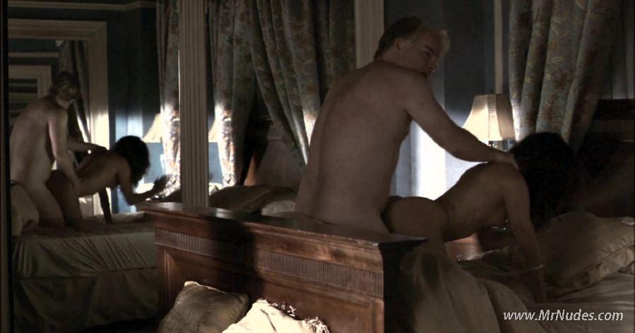 Naked flaccid men in shower